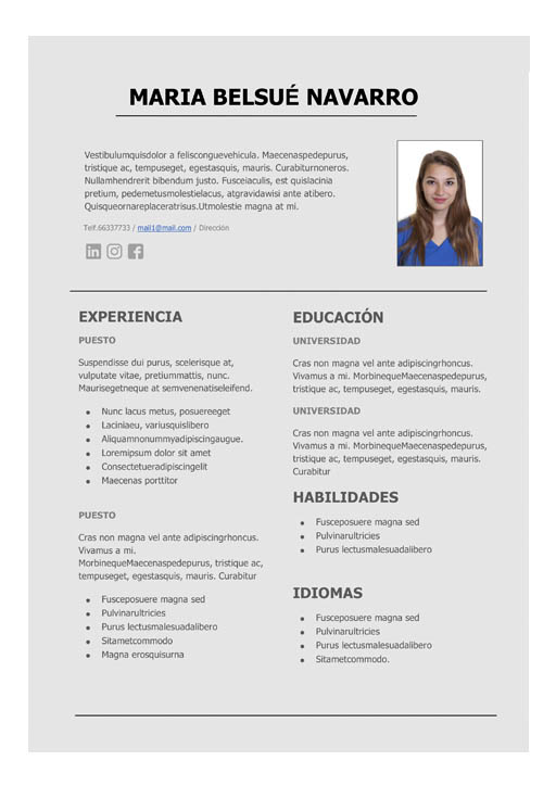 Modelo De Cv En Word The Future
